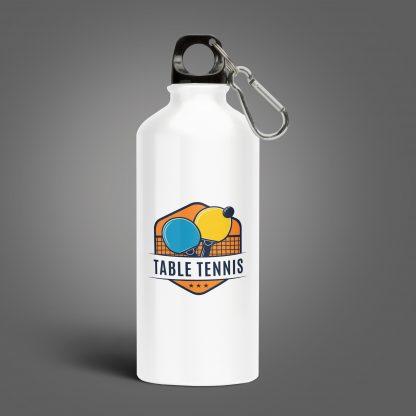 37195891 - aluminum bottle water isolated white background